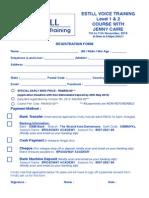 Form Estill (Level 1 & 2) in November 2015