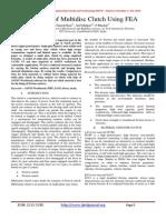 Analysis of Multidisc Clutch Using FEA