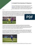 Coupe Du Monde De Football Trivia Questions Et Reponses