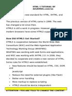 Tutorial HTML 5 in English