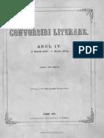 Convorbiri Literare 1 Noe 1870 Poveste Eminescu