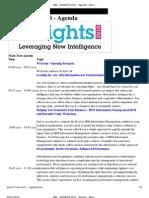 IBM - InSIGHTS 2010 - Agenda - Mumbai - India
