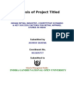 Synopsis of Project Titled