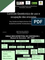 Controle Geotécnico de uso e ocupação das encostas