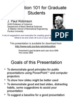 Presentation Tips for Graduate Students