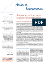 Resume Rapport Cae 2010 ion Droit Social en France