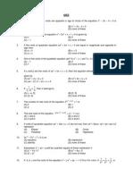 Quadratic Equations and Exp