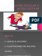 Bullying Escolar o Acoso Escolar
