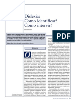 Dislexia - como Identificar e Intervir
