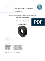 Airplane tyre Design & development
