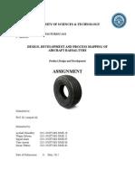 Airplane tyre Design & development