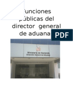 Funciones Públicas Del Director General de Aduanas