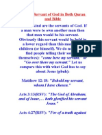 Jesus is a Servant of God in Both Quran and Bible