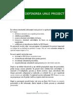 SISD432 - MS Project 2007 - Definirea Unui Proiect