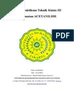 Laporan Praktikum Teknik Kimia III Acetanilide