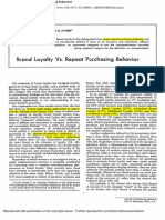 Brand Loyalty vs. Repeat Purchasing Behavior