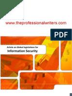 Article on Global Legislation for Information Security
