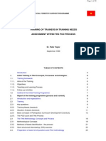 0001891 Society Training of Trainers in Training Needs Assessment Within the Pcd Process