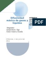 Difusividad Gases y Liquidos