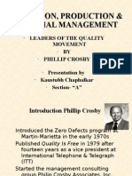 Operation, Production & Material Management
