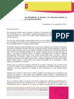 Mensaje a las Maestras de México de las Defensoras Mesoamericanas (02/09/2015)