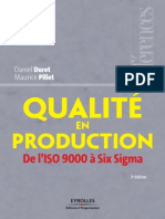Qualite en Production - De l'ISO 9000 a Six Sigma