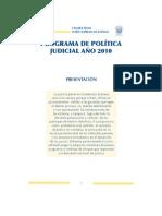 Programa de Politica Judicial Ano 2010