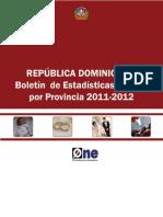 Estadisticas Vitales Boletin Provincial 2012 Final