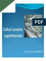Culturi acvatice superintensive