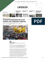 El Posextractivismo No Es Un Cuento, Por Eduardo Gudynas