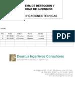 especificaciones tecnicas deteccion y alarmas