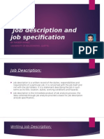 Job Description vs Job Specification