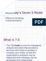PPT Seven S model of mckinsey