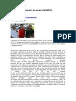 Relación de Notas 30-09-2014
