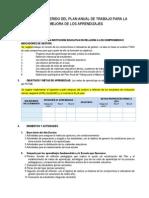Esquema Sugerido Del Plan Anual de Trabajo Para La Mejora de Los Aprendizajes 2014