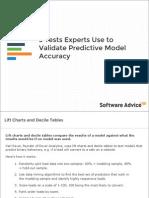 predictive model  Validaton