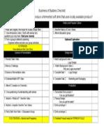 business of bubbles checklist
