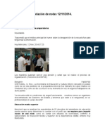 Relación de Notas 12-11-2014