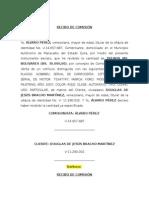 Recibos de Pago de Comisión FD