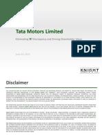 """Eliminating """"A"""" Discrepancy In Tata Motors"""