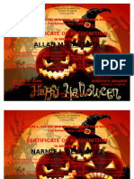 Halloween Party Certificates