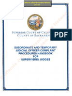 Complaint Procedures Handbook for Supervising Judges