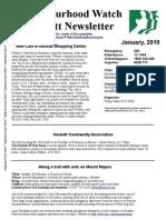 Hackett Neighbourhood Watch Newsletter - Janurary 2010
