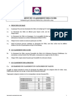 Reglement Du Classement Des Clubs