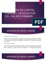 Inversion en Capital Humano, Legislacion Del Salario (1)