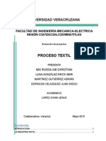 Universidad Veracruzana Procesos Textiles