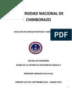 SILABO Matematica Básica II Semestre Economia