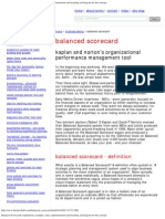 Balanced Scorecards Explanation, Examples, Aims, Implementation and Teaching