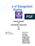 management practices on IBM