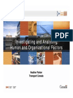 Parker 061201 - Investigating and Analysing Human and Organizational Factors